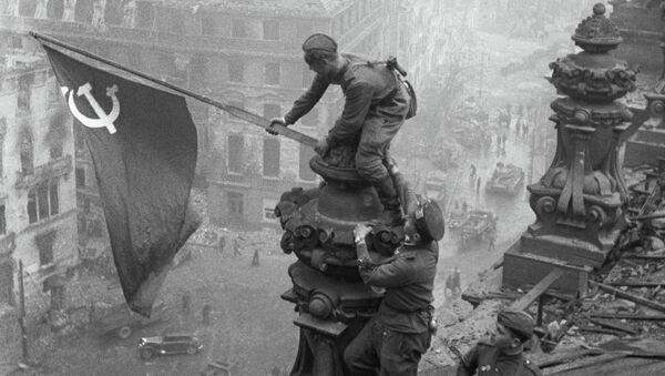 World War II, 1941 - 1945. The Victory Banner over Reichstag, Berlin. May 1, 1945. - Sputnik International