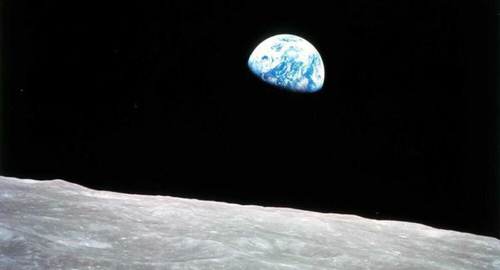Earthrise as seen from the Moon