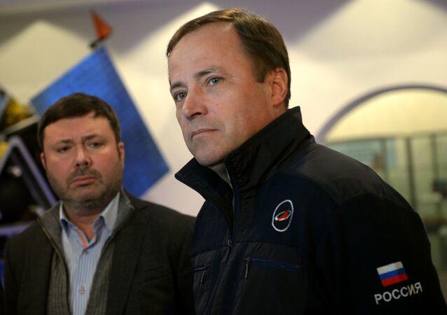 The head of Roscosmos Igor Komarov