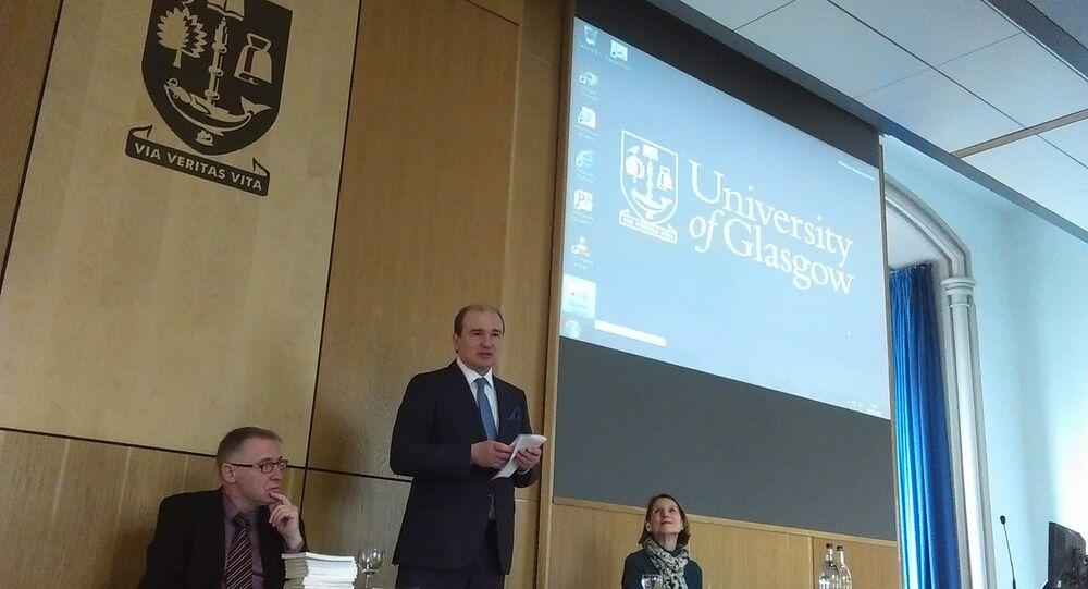 Andrey Pritsepov, the Consul General of the Russian Federation in Edinburgh