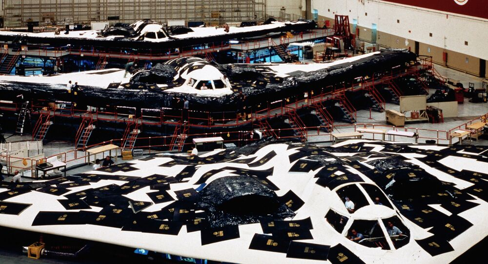 Production line for the B-2 bomber, which the Air Force is seeking to replace with the LRS-B.
