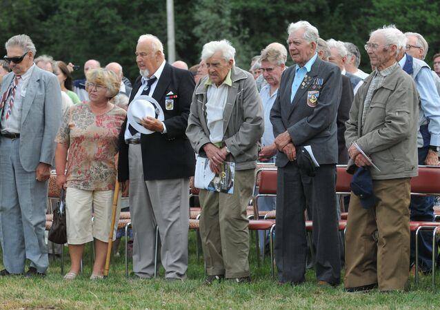 Veterans of 20th Waffen Grenadier Division of SS (1st Estonian) meet in Estonia, 2010