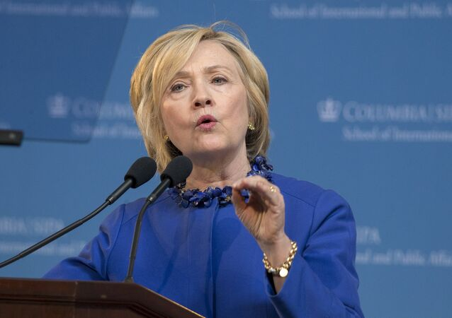 Democratic presidential candidate Hillary Clinton delivers the keynote address at the 18th Annual David N. Dinkins Leadership and Public Policy Forum at Columbia University in New York April 29, 2015