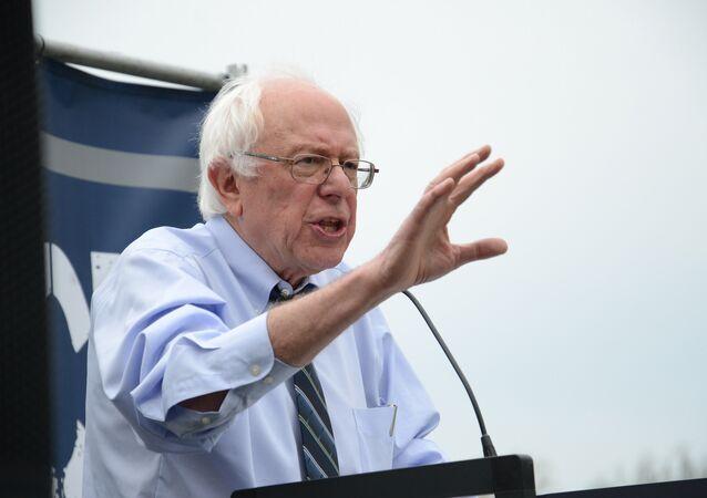 US Senator and presidential candidate Bernie Sanders