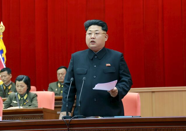North Korean leader Kim Jong Un speaks during the 5th meeting of training officers of the Korean People's Army in this undated photo released by North Korea's Korean Central News Agency (KCNA) in Pyongyang April 26, 2015