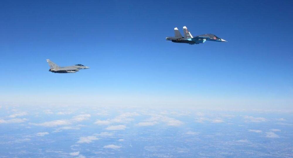 Eurofighter Typhoon and Su-34