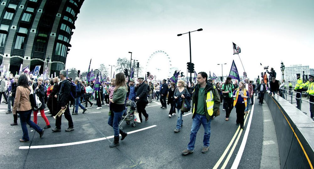 A protest in London, UK