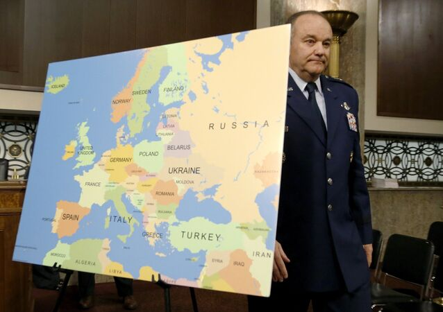 U.S. Air Force Gen. Philip Breedlove, commander of the U.S. European Command and Supreme Allied Commander for Europe, arrives to testify before a Senate Armed Services Committee hearing on Capitol Hill in Washington, April 30, 2015