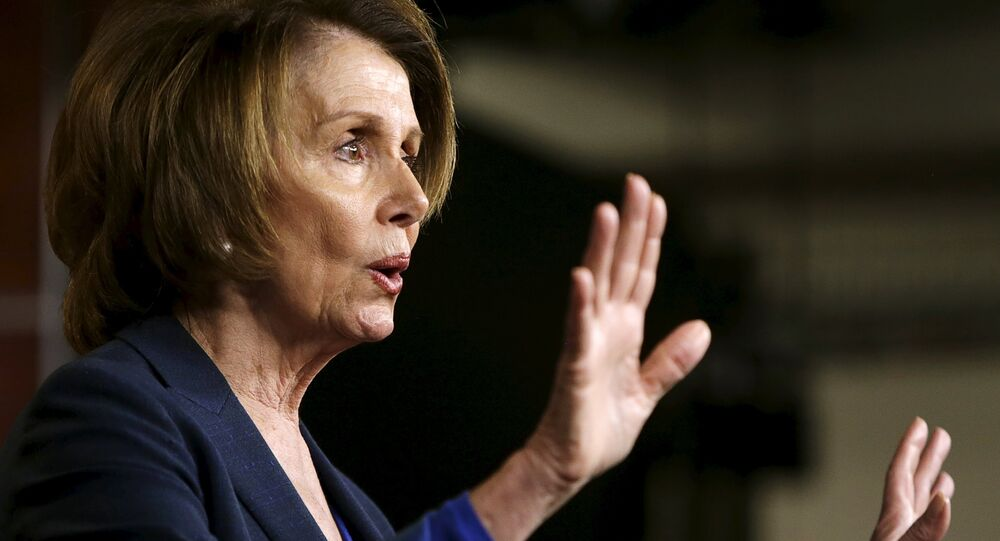 U.S. House Minority leader Nancy Pelosi (D-CA) holds a news conference on Capitol Hill in Washington April 23, 2015