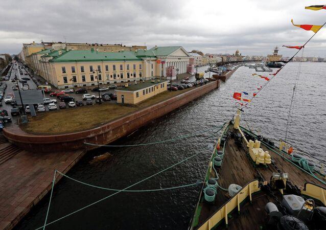 98th anniversary of icebreaker Krasin in St. Petersburg