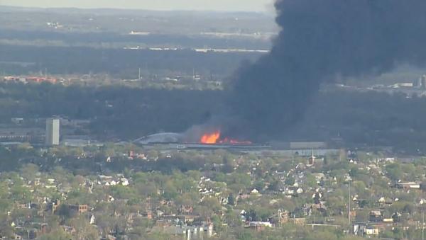 Massive Fire in South Columbus - Sputnik International