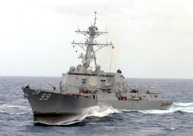 The guided-missile destroyer USS Farragut