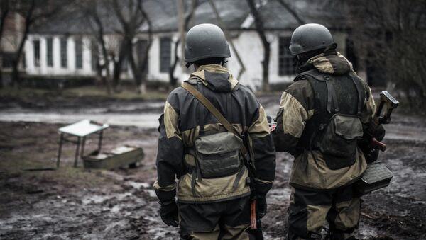Militia of the DPR in the village of Shirokino - Sputnik International