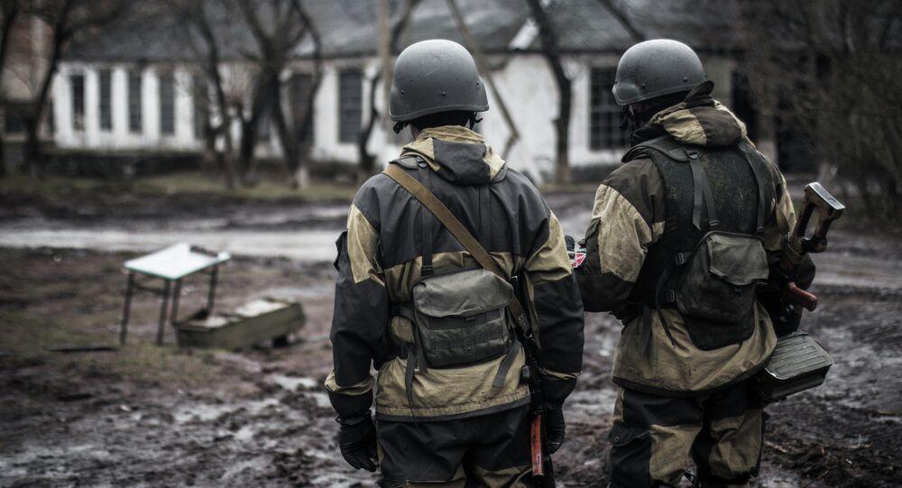 Militia of the DPR in the village of Shirokino