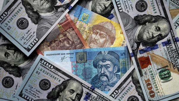US and Ukrainian notes and coins - Sputnik International