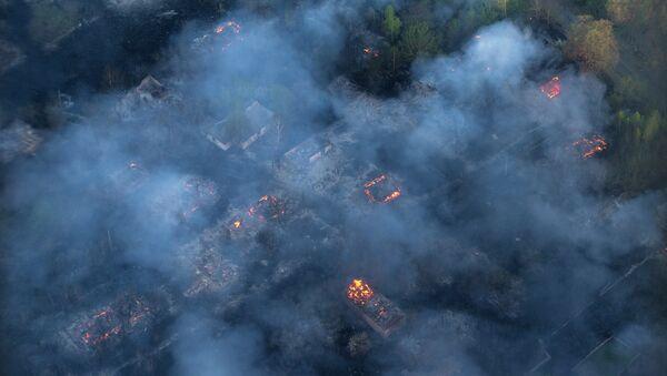 Fire hits an abandoned village - Sputnik International