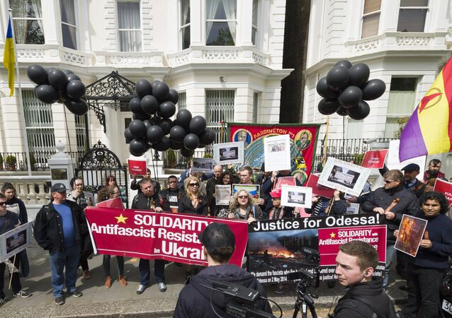 Rally in commemoration of Odessa victims in London