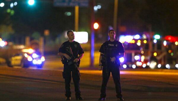 Police officers at the facility in Garland, Texas May 3, 2015. - Sputnik International