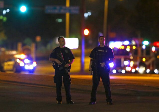 Police officers block an intersection near the Curtis Culwell Center after a shooting outside the Muhammad Art Exhibit and Contest, sponsored by the American Freedom Defense Initiative which was being held at the facility in Garland, Texas May 3, 2015.