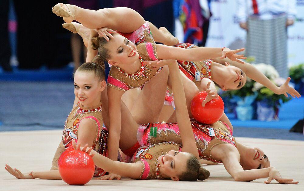 Magic of Grace and Flexibility: European Rhythmic Gymnastics Championship