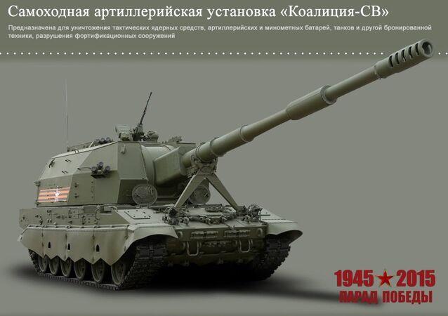 Self-propelled artillery system Koalitsiya-SV