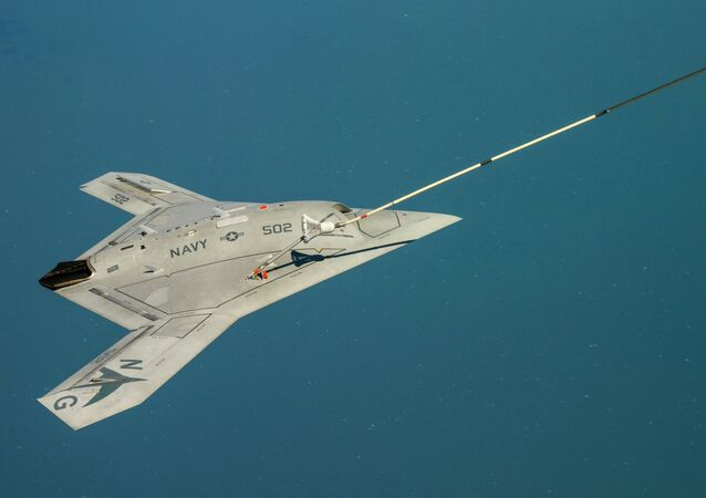 The Navy's unmanned X-47B aircraft