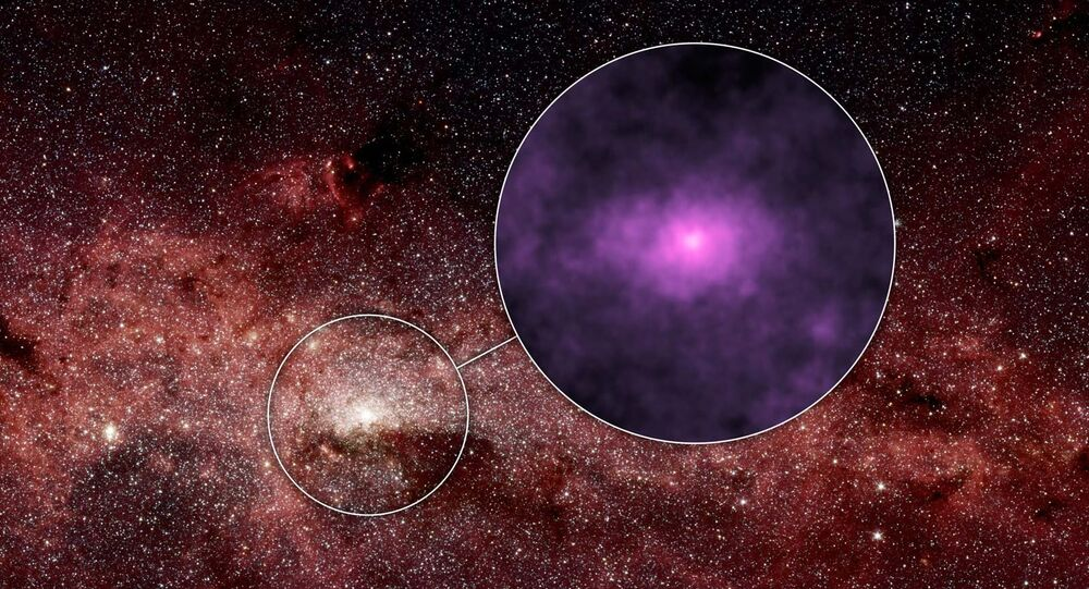 New images captured by NASA of a mysterious glow at the center of our galaxy may have been produced by the howls of dead stars feeding off their live companions.