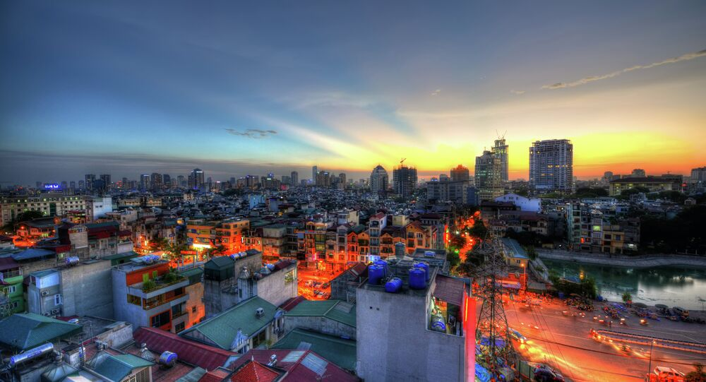 Sunset in Hanoi