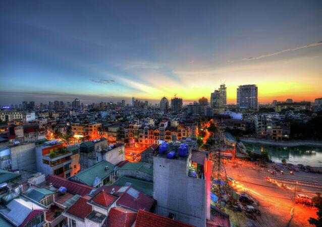The Sunset in Hanoi