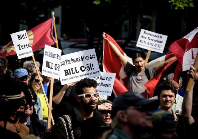 Protests against Canada's Anti-terror bill