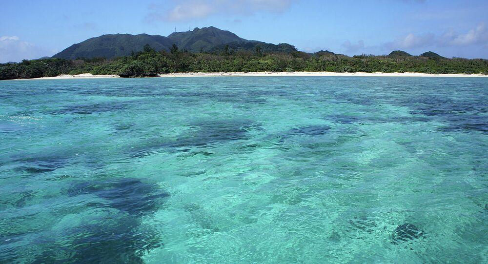 Kabira Bay of Ishigaki Island in Ishigaki City, Okinawa Prefecture, Japan.