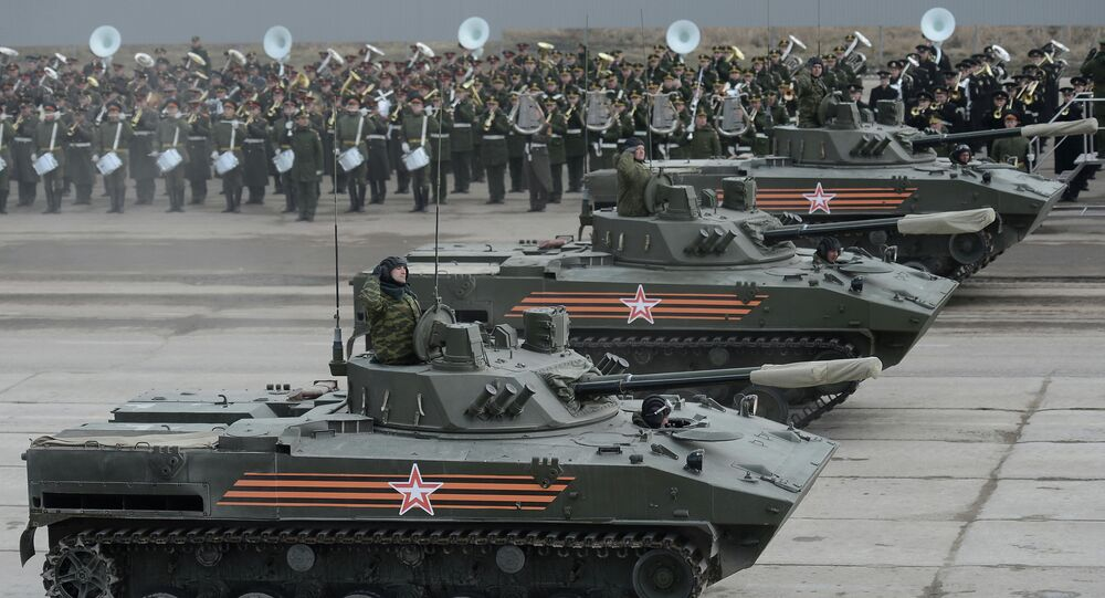 Joint training of soldier formations and mechanized units for Victory Parade