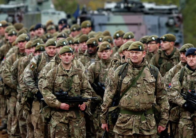 British soldiers attend a military exercise north of the capital Vilnius, Lithuania.
