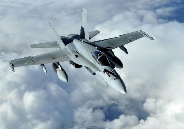 Finnish air force F-18 Hornet aircraft