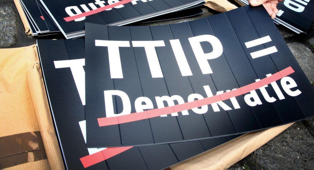 Anti-TTIP banner