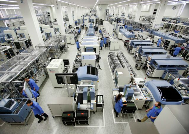 The Siemens electronics manufacturing plant is photographedin Amberg, Germany, Monday, Feb. 23, 2015