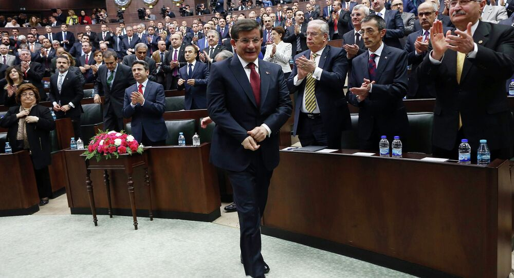 Turkey's ruling Justice and Development Party (AKP) at the Grand National Assembly of Turkey (TBMM) in Ankara