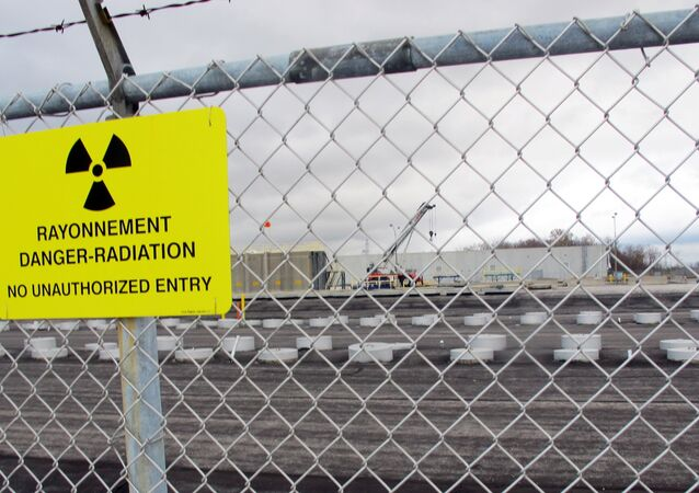 This Nov. 1, 2013 photo shows rows of chambers holding intermediate-level radioactive waste in shallow pits at the Bruce Power nuclear complex near Kincardine, Ontario.