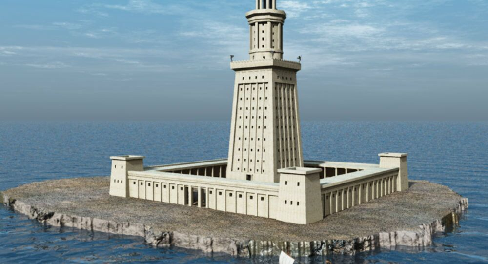 Artist's rendering of the Lighthouse of Alexandria