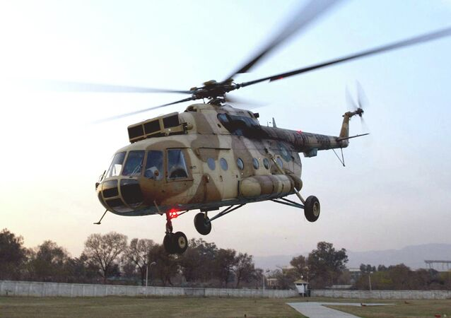 This undated photo shows a Russian-made MI-17 Pakistan Army helicopter landing in Islamabad, Pakistan