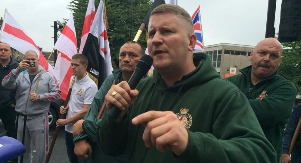 Leader of the Britain First far-right political party Paul Golding