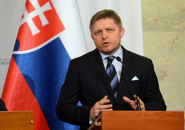 Prime minister Robert Fico of of Slovakia
