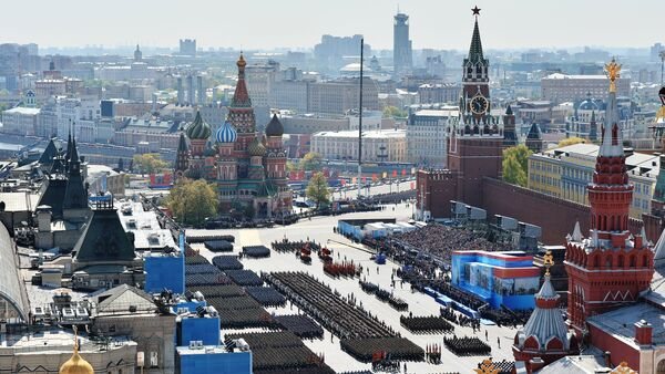 Military personnel in formation during the military parade to commemorate the 70th anniversary of the Soviet Union's victory in World War II, the Great Patriotic War of 1941-1945. - Sputnik International