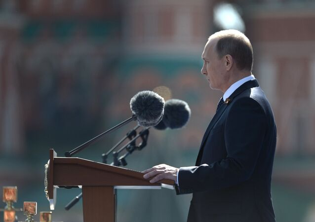 Vladimir Putin attends military parade to mark 70th anniversary of Victory in 1941-1945 Great Patriotic War