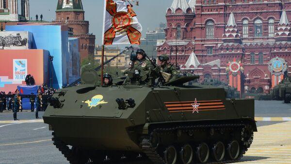 A BTR-MDM Rakushka (Shell) airborne armored personnel carrier at the military parade - Sputnik International