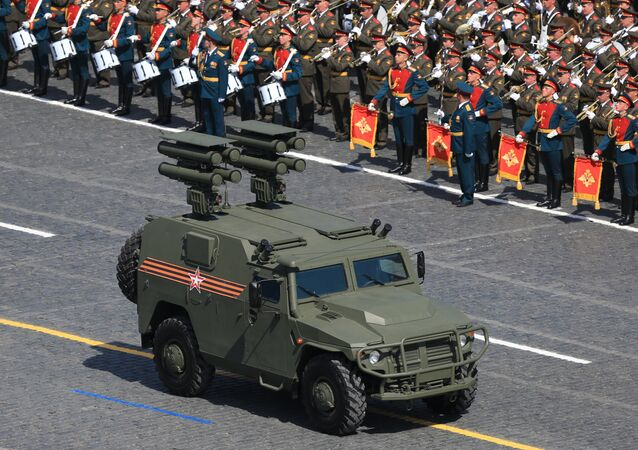 A Tigr armored SUV with the Kornet-D anti-tank guided missile system