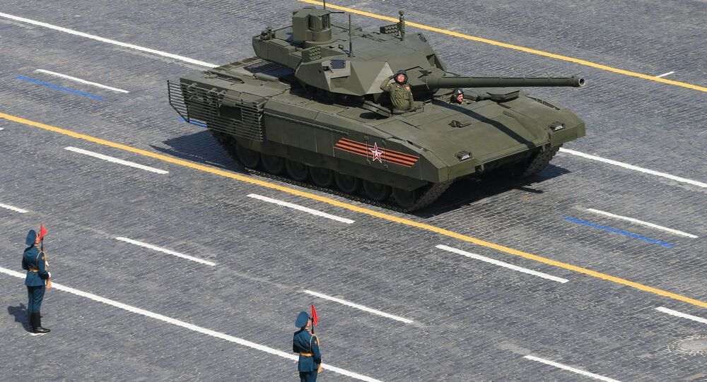 A T-14 tank with the Armata Universal Combat Platform