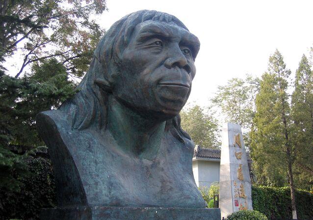 Peking Man at Zhoukoudian.  Fangshan, Beijing, China