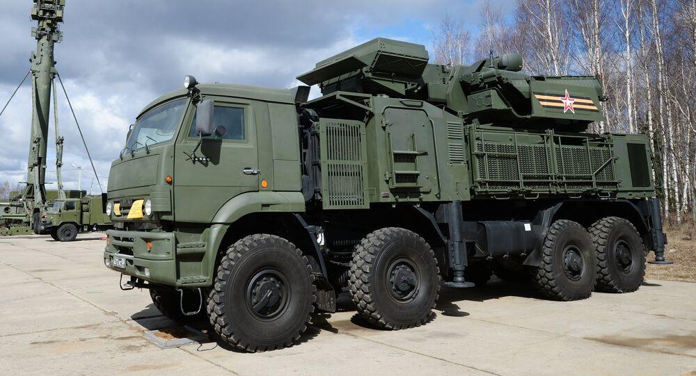 Russian Pantsir S1 air defense system