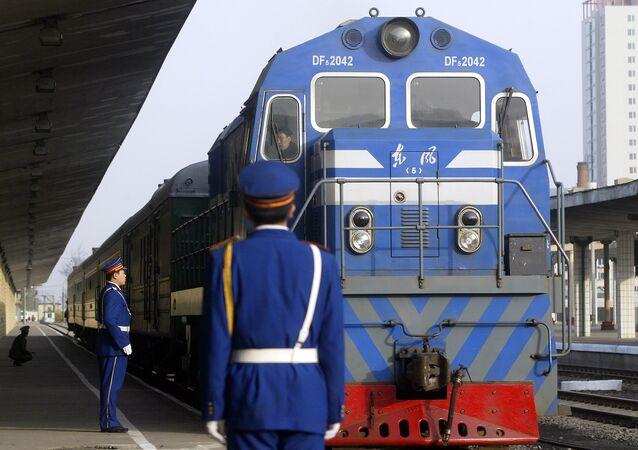 Chinese railway police